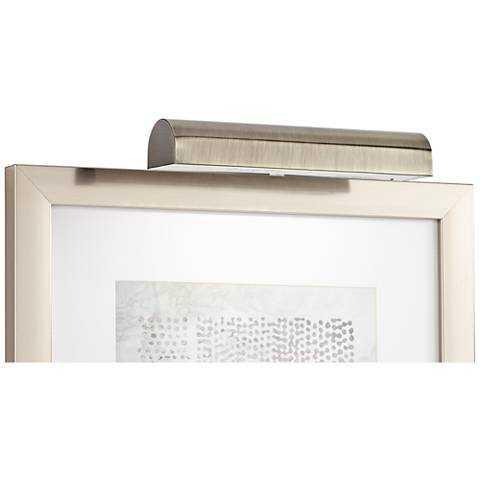 """Concept Cordless Antique Brass 11 1/2""""-W LED Picture Light - Lamps Plus"""
