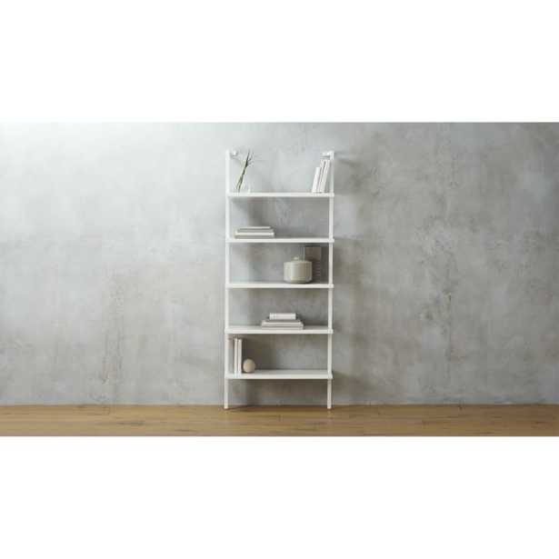 """""""stairway white 96"""""""" wall mounted bookcase"""" - CB2"""