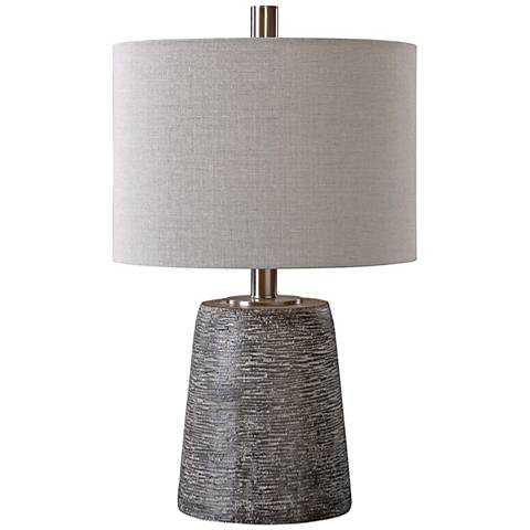 Uttermost Duron Dark Rustic Bronze Ceramic Table Lamp - Lamps Plus