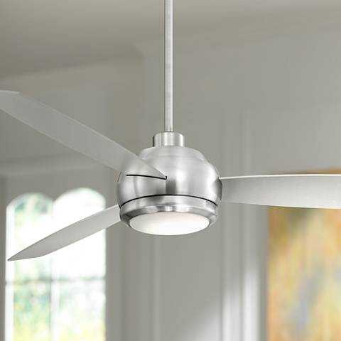 """60"""" Casa Aleso™ Brushed Nickel LED Ceiling Fan - Lamps Plus"""