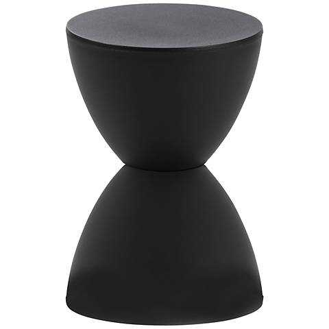 Sallie Black Small Table Stool - Lamps Plus