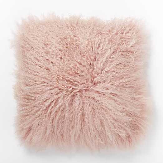 "Mongolian Lamb Pillow Cover - Rosette (Square) -  16"" - West Elm"