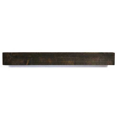"Modern Farmhouse Fireplace Mantel 72"" Shelf - Dark Chocolate Stain - Wayfair"