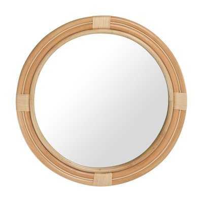 Round Nautical Decorative Accent Mirror - Natural - Wayfair