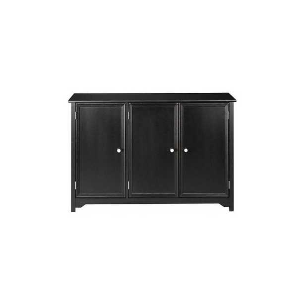 Oxford Black Storage Console Table - Home Depot