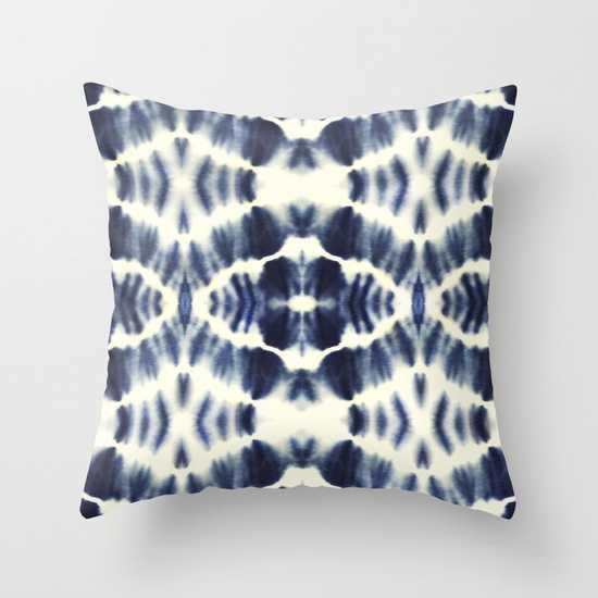BOHEMIAN INDIGO BLUE Outdoor Pillow 20x20 - Society6