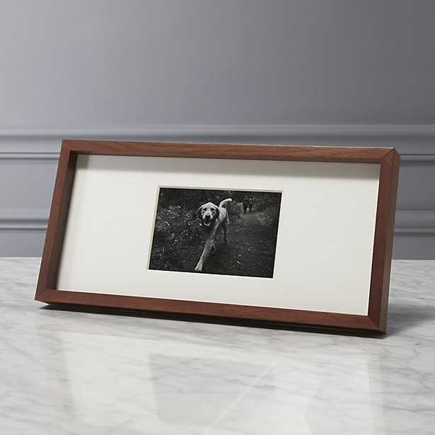 gallery walnut 4x6 picture frame - CB2