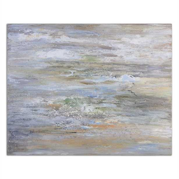 """""""Misty Morning"""" by Grace Feyock Original Painting on Canvas- 36"""" H x 48"""" W x 2"""" D- Unframed - no mat - Hudsonhill Foundry"""
