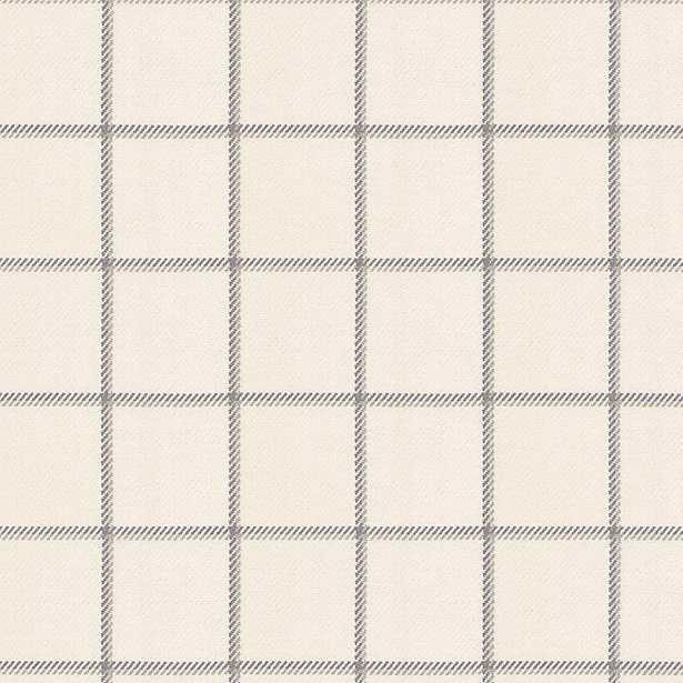 End of the Line - Ash Gray Windowpane Check Fabric - Loom Decor