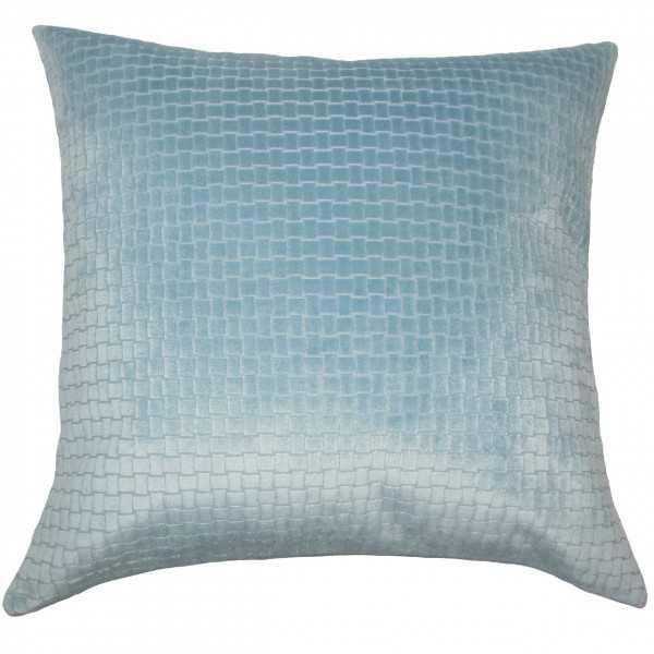 "Earleen Solid Pillow Light Blue - 18""x18"" with Poly Insert - Linen & Seam"