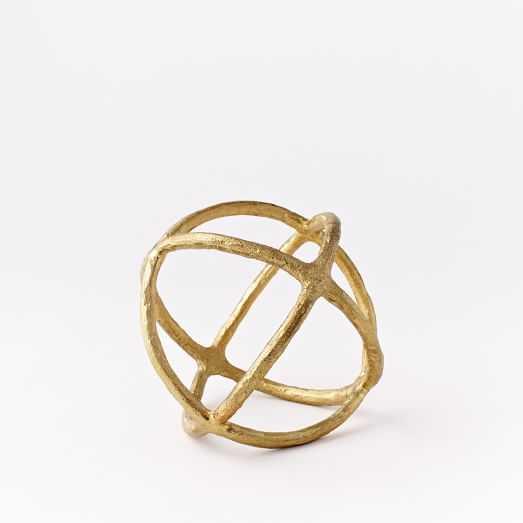 Sculptural Sphere, Brass, Small - West Elm