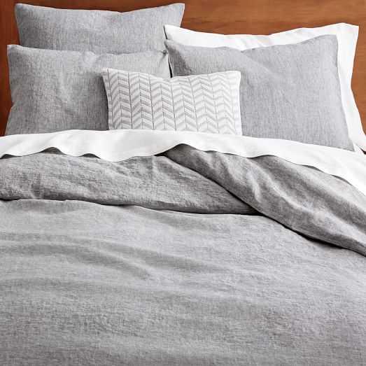 Belgian Flax Linen Melange Duvet Cover - West Elm
