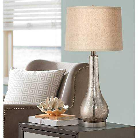 Janna Mercury Glass Gourd Table Lamp - Lamps Plus
