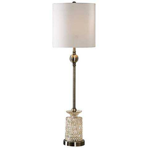 Uttermost Flavinia Light Champagne Glass Tall Table Lamp - Lamps Plus