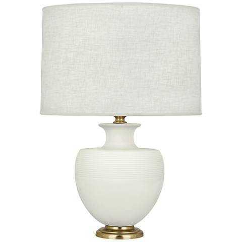 Michael Berman Atlas Brass and Lily Ceramic Table Lamp - Lamps Plus