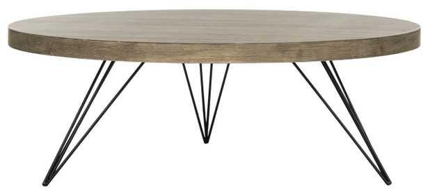 Mansel Retro Mid century Round Coffee Table - Arlo Home