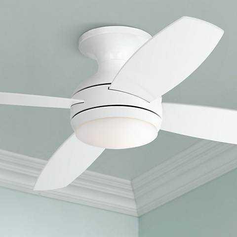 """52"""" Casa Elite™ White LED Hugger Ceiling Fan - Lamps Plus"""