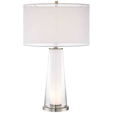 Bruno Clear Glass with Frosted Inner Nightlight Table Lamp - Lamps Plus