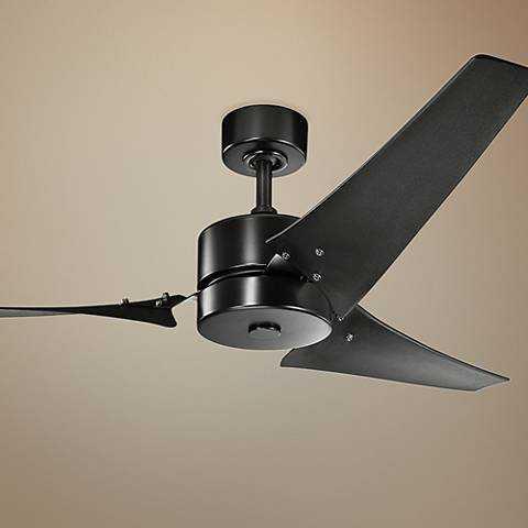 "60"" Kichler Motu™ Satin Black Ceiling Fan - Lamps Plus"