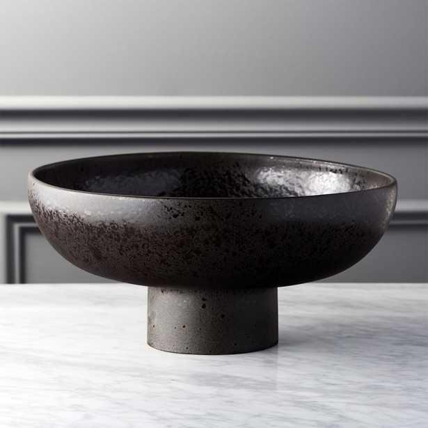 """Black Pedestal Bowl - 6""""H - CB2"""