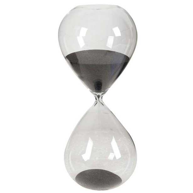 6 in. x 15 in. Black Decorative Hour Glass, Blacks - Home Depot