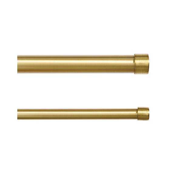 "Drapery Rod End Caps -Set of 2 -brass -75"" - Ballard Designs"