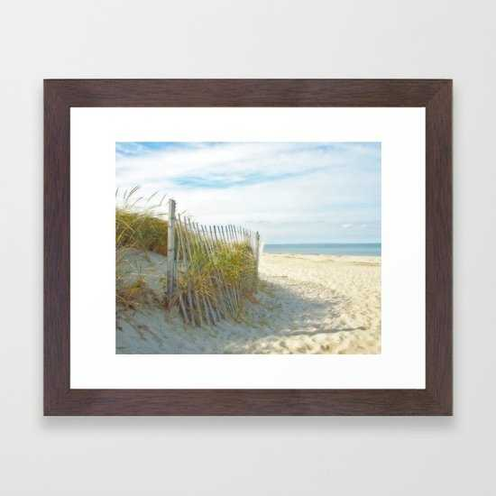 Sandy Beach, Ocean, and Dunes - Society6