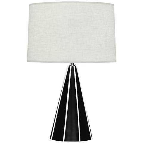 Robert Abbey Monique Matte Black and White Table Lamp - Lamps Plus