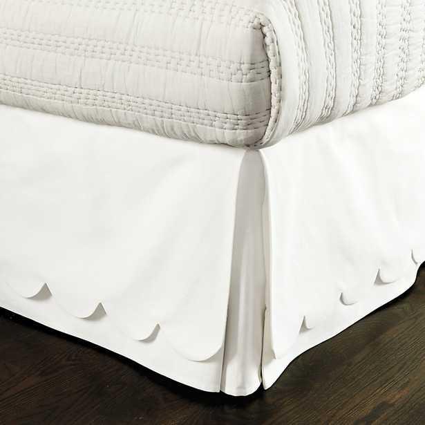 Ballard Designs Scalloped Twill Bedskirt Off White Twill King - Ballard Designs