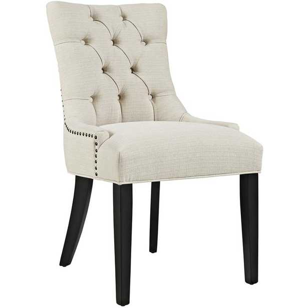 REGENT FABRIC DINING CHAIR IN BEIGE - Modway Furniture