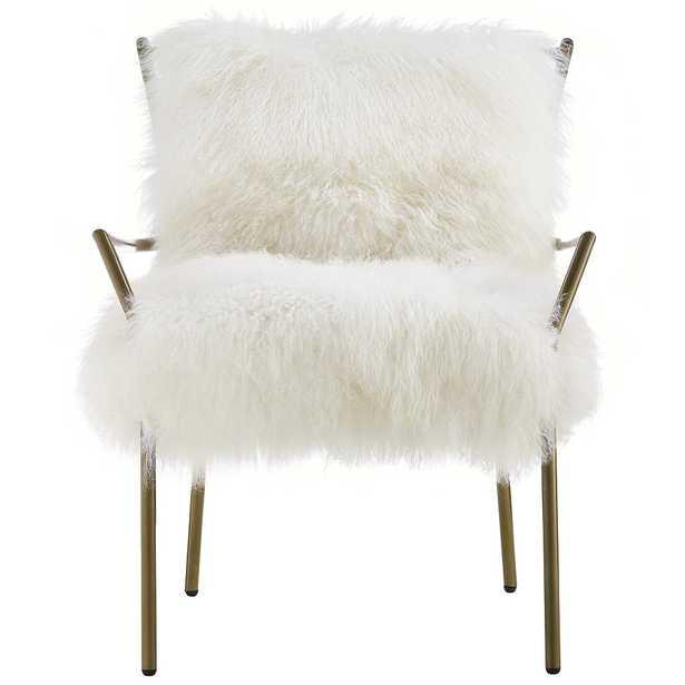 Cameron Chair, White & Gold - Studio Marcette