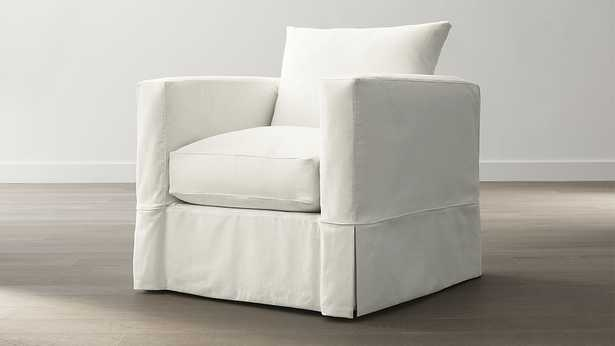 Willow Chair - Kingston, Snow - Crate and Barrel