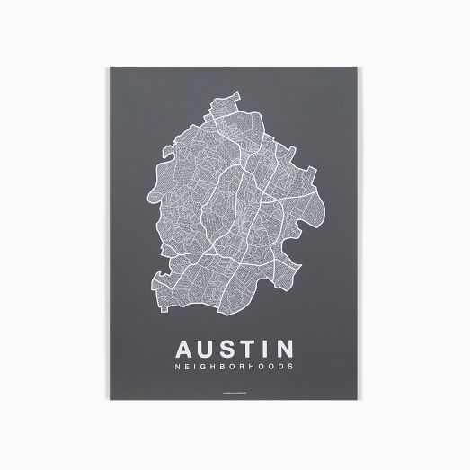 Native Maps - Austin Print - West Elm