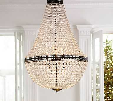 Mia Faceted-Crystal Chandelier - Large - Pottery Barn