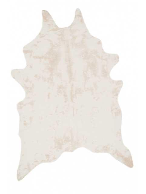 "BRIGHTON FAUX COWHIDE RUG, beige 3'10"" x 5' - Lulu and Georgia"