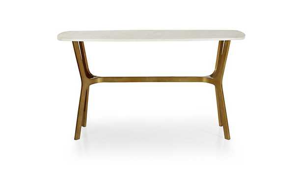 Elke Marble Console Table with Brass Base - Crate and Barrel