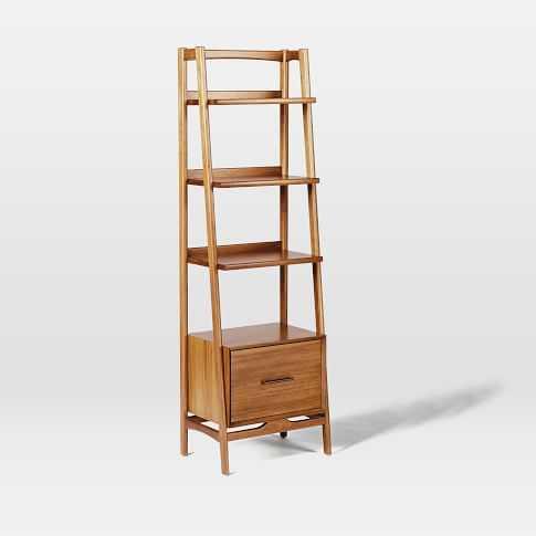 Mid-Century Bookshelf - Narrow Tower - West Elm