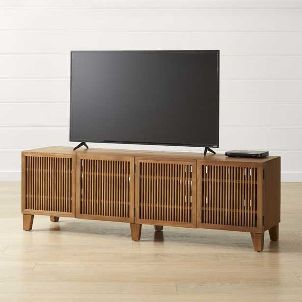 """Marin Natural 75.25"""" Media Console - Crate and Barrel"""