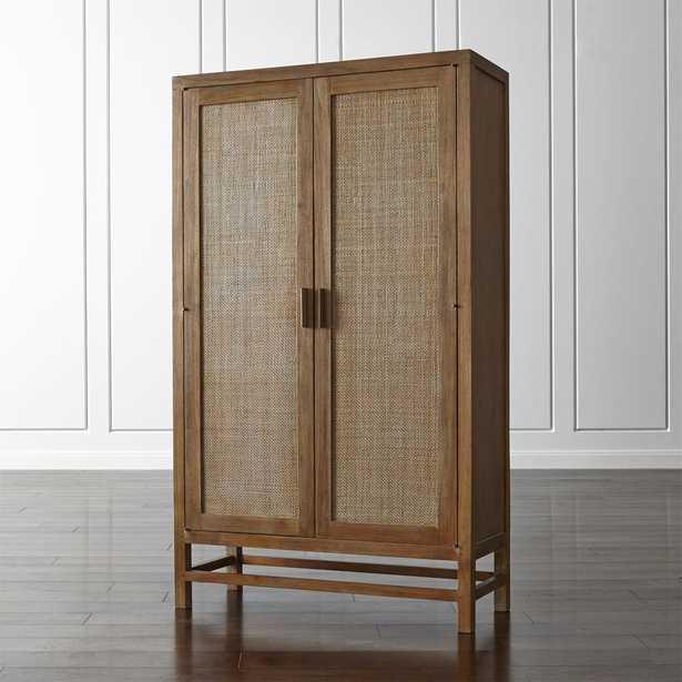 Blake Grey Wash 2-Door Cabinet - Crate and Barrel