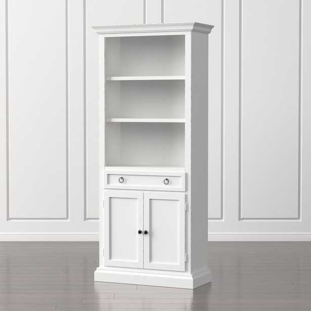 Cameo White Storage Bookcase - Crate and Barrel