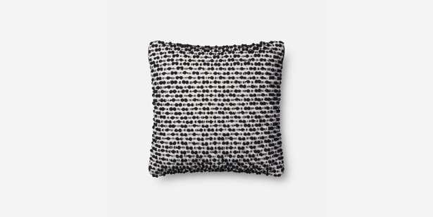 P1018 MH WHITE / BLACK Pillow - With Down Insert - Loma Threads