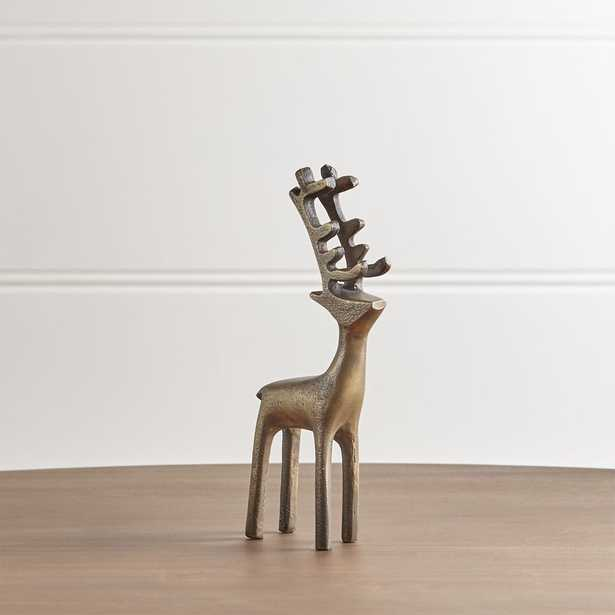 "8"" Brass Reindeer - Crate and Barrel"