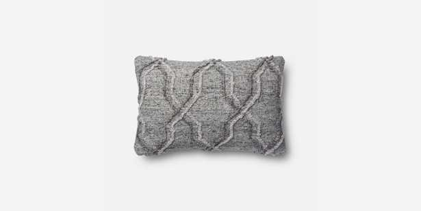 """P1014 MH GREY Pillow Cover - 13"""" x 21"""" - Poly Insert - Loma Threads"""