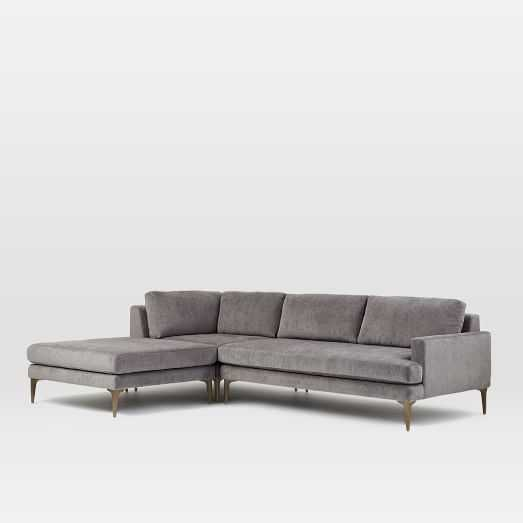 Andes 3-Piece Chaise Sectional, Left Arm Sofa and Ottoman and Corner - West Elm