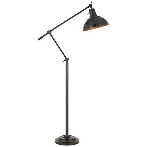 Eupen Dark Bronze Adjustable Linear Floor Lamp - Lamps Plus