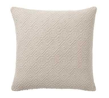 "Washed Diamond 20"" Pillow, Flax - Pottery Barn"