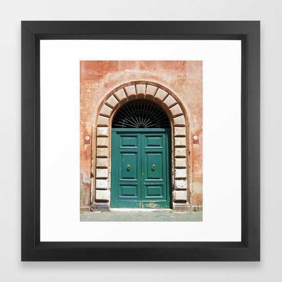 Door in Rome framed art print - Society6