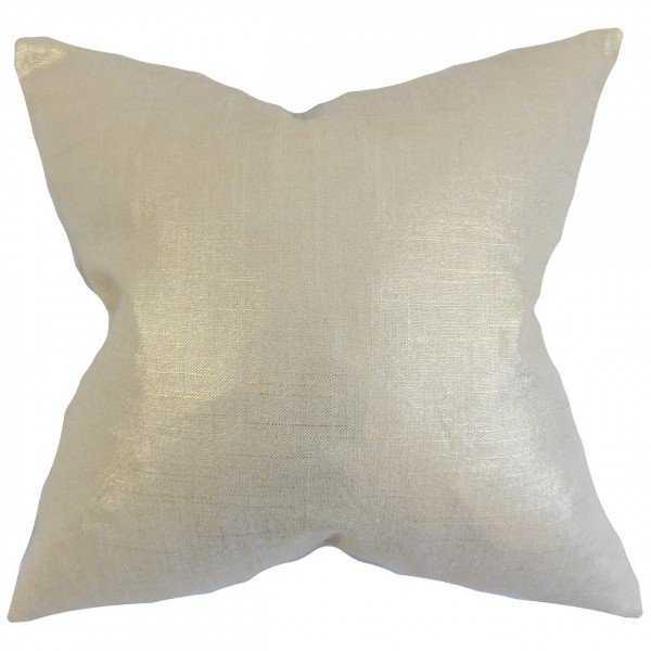 Florin Solid Pillow Antique Gold - 26 x 26 Euro - Down Insert - Linen & Seam
