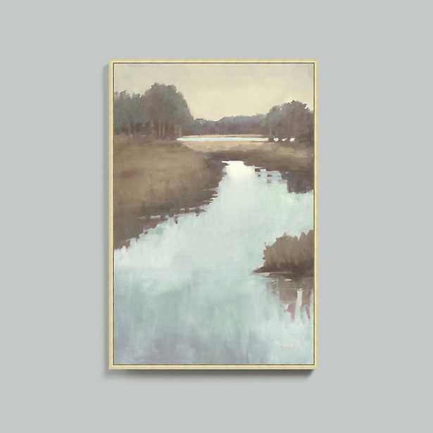 """Ballard Designs Morning Marsh Framed Canvas  31"""" x 21"""" - Ballard Designs"""