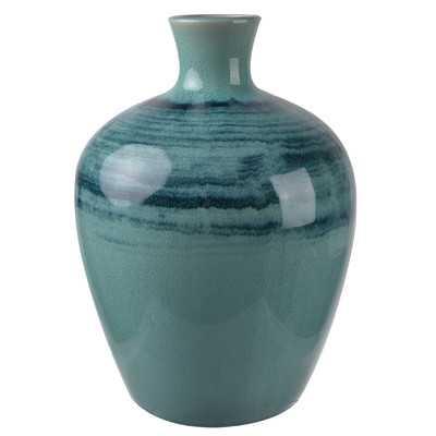 Trumpet Blue Vase - AllModern